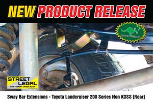 Sway Bar Extensions - Toyota Landcruiser 200 Series Non KDSS [Rear]