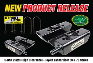 U-Bolt Plates High Clearance - Toyota Landcruiser 60 & All 70 Series