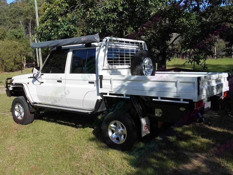 Rear Right side view of the fitted Superior 4 Inch Lift Kit on the Toyota Landcruiser 78/79 Series V8